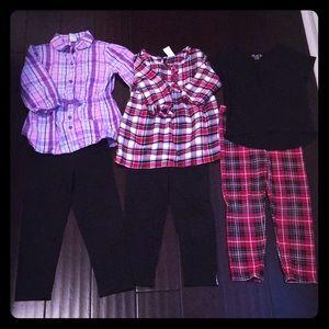 Lot of 3 size 5T Healthtex plaid fall outfits